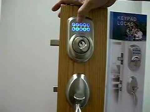 Keyless Locks Schlage Digital Keypad Lock Youtube