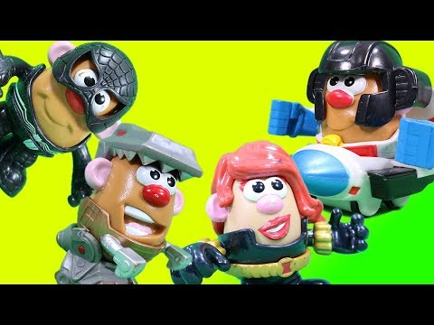 Transformers And Marvel Super Hero Potato Head Surprise Snow Reveal!