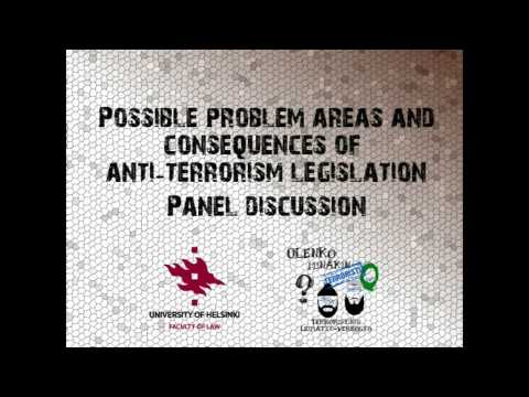 Anti-terrorism legislation, its problem areas and consequences