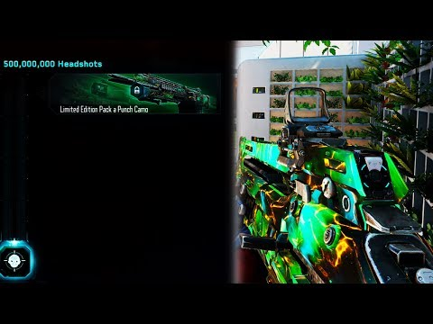 UNLOCKING NEW SECRET PACK-A-CAMO IN BLACK OPS 3! COMPLETING THE 500,000,000 HEADSHOTS CONTRACT AGAIN