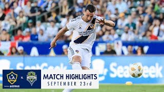 HIGHLIGHTS: LA Galaxy vs. Seattle Sounders FC | September 23, 2018