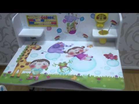Детская парта и стульчик Жирафики, Смурфики, Птички...