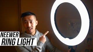Neewer Ring Light Review & FULL Setup (18'' LED Ring Light Worth it?)