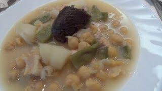 Recetas de cocina COCIDO DE GARBANZOS slow food estilo Cabra del Santo Cristo