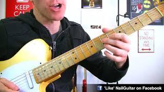 Sliding 6ths Rock Blues Lick - A Minor - Lead Guitar Soloing Lesson