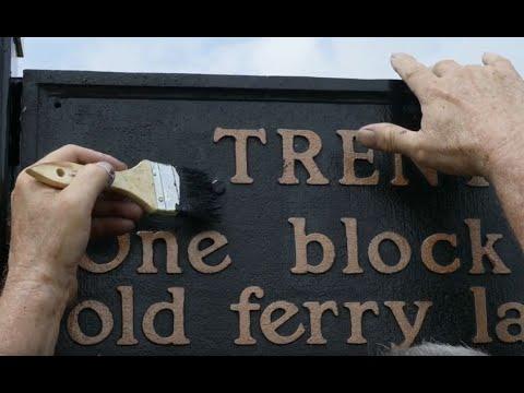 Trenton sign marks Washington's passage