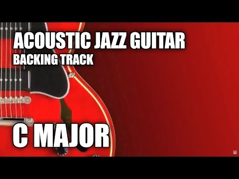 Acoustic Jazz Guitar Backing Track In C Major