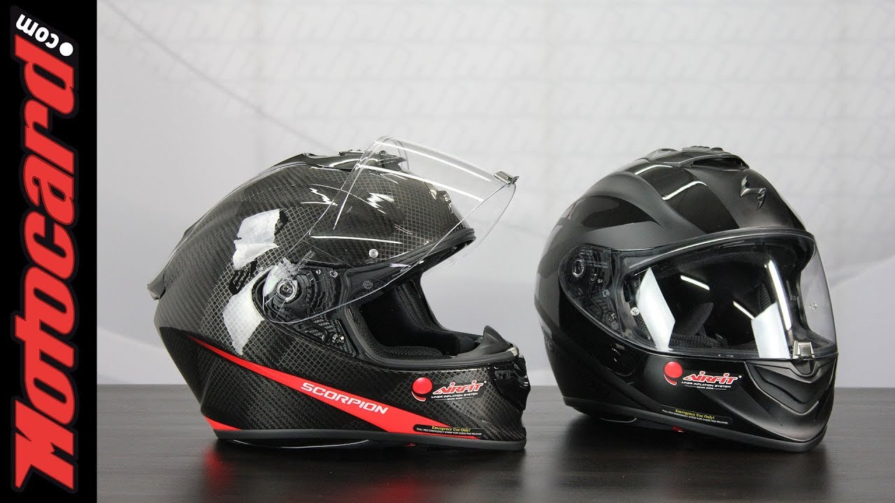 Negro//Rojo Scorpion Casco de moto EXO-1400 AIR ATTUNE Matt Black-Red M