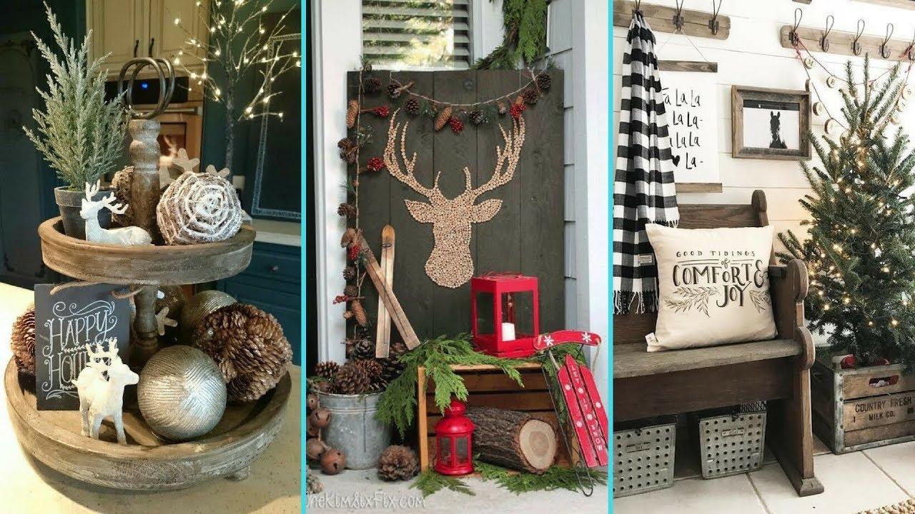 DIY Shabby Chic Style Rustic Christmas Decor Ideas
