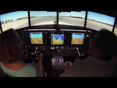 Come take a flight in Tropic Air's flight simulator