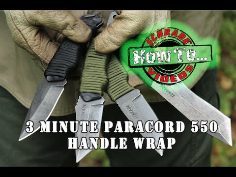 How to make a knife handle out of rope