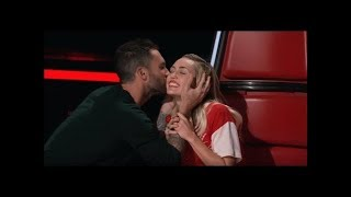 Voice that made Adam fall off his chair in The Voice 2018
