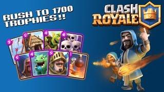 rush to 1700 trophies clash royale battle decks ep 6 anqievincent s deck  arena 5