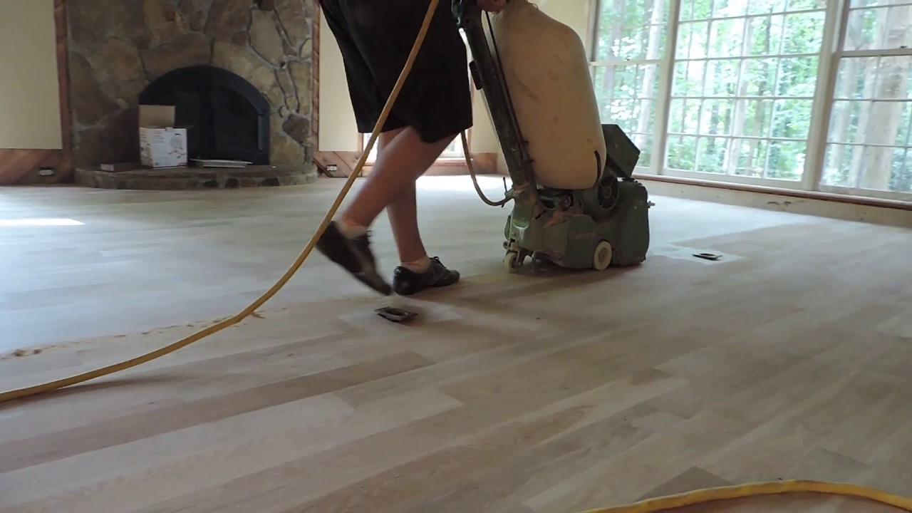 Sanding Hardwood Floors Belt Sander Drum Sander Youtube