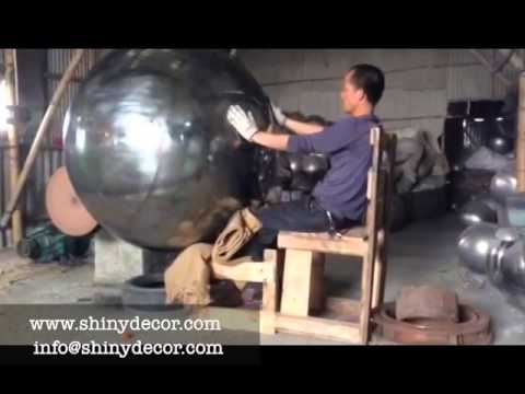 Polishing Large Stainless Steel Ball Youtube