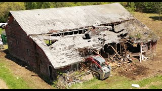 Removing part of a barn