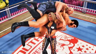 WWE 2k20: Beth Phoenix vs Big Show & Andre the Giant, Intergender Wrestling