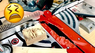 How to build a zero clearance insert for Bosch miter saw | I destroyed my original :(