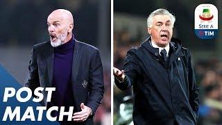 Fiorentina 0-0 Napoli   Ancelotti & Pioli Post Match Press Conferences   Serie A