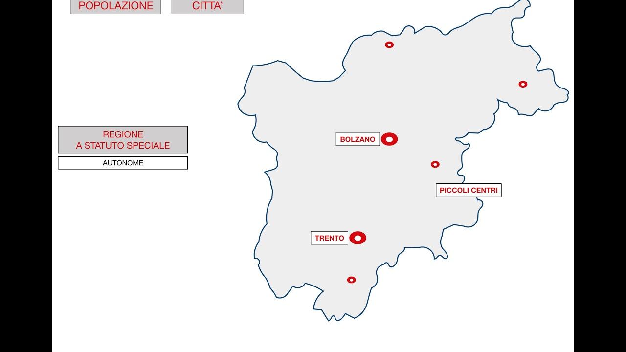 Trentino Alto Adige Cartina Geografica Fisica.Geografia Trentino Alto Adige Youtube