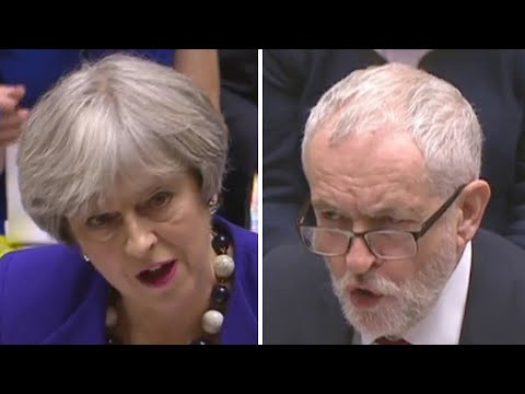 Corbyn and May spar over Carillion at PMQs