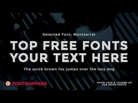 Top Free Font #1 | Montserrat | Download Free Fonts (for Commercial Use) | Best Free Fonts!