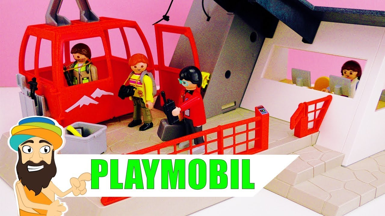 playmobil seilbahn youtube speed build unboxing video | playmobil