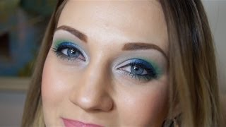 TUTORIAL: Super Bowl Champions Seattle Seahawks Eyeshadow - Go Hawks!!! Thumbnail