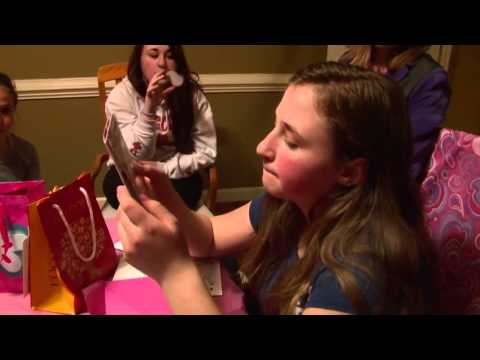 Girl Opening Presents on Her Surprise Birthday Party   Gift Prank   Fun Challenge
