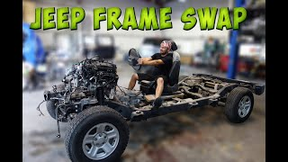 Rebuilding Wrecked Jeep Wrangler! Frame Damage repair!