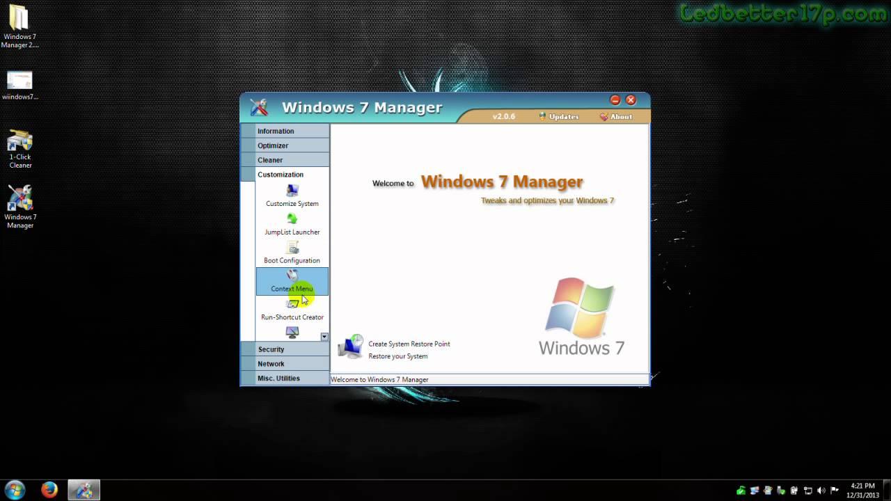Windows 7 Manager V 2 1 0 32Bit 64Bit 2019 Ver.7.2 Update