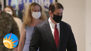 Gov Ducey makes an announcement on wearing masks & updates his plan of action for COVID-19 in AZ