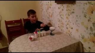 Мороженое из молока с сахара