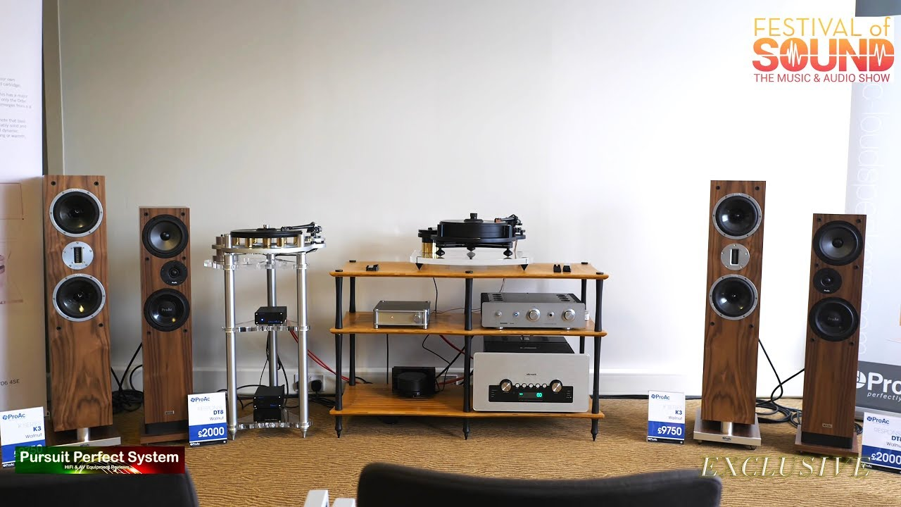 ProAc K3 DT8 speakers Michell Engineering Turntables Sugden Audio Research  @ Festival of Sound 2018