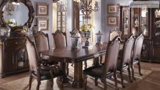 Monte Carlo Ii Cafe Noir Dining Room Collection From Aico Furniture