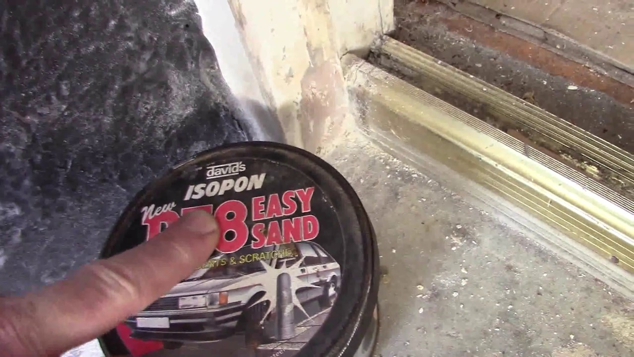 How to repair a rotten wood on a door frame, window frame the cheap ...
