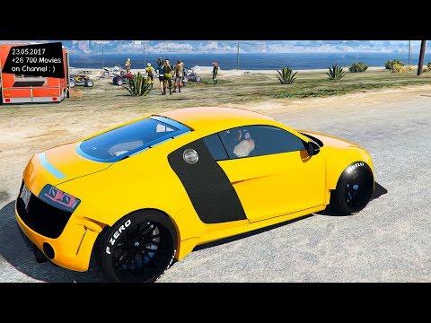 Audi R8 Liberty Walk New ENB Top Speed Test GTA Mod Future