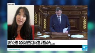 Spain Corruption Trial   a difficult day for PM Rajoy , appearing as witness in case
