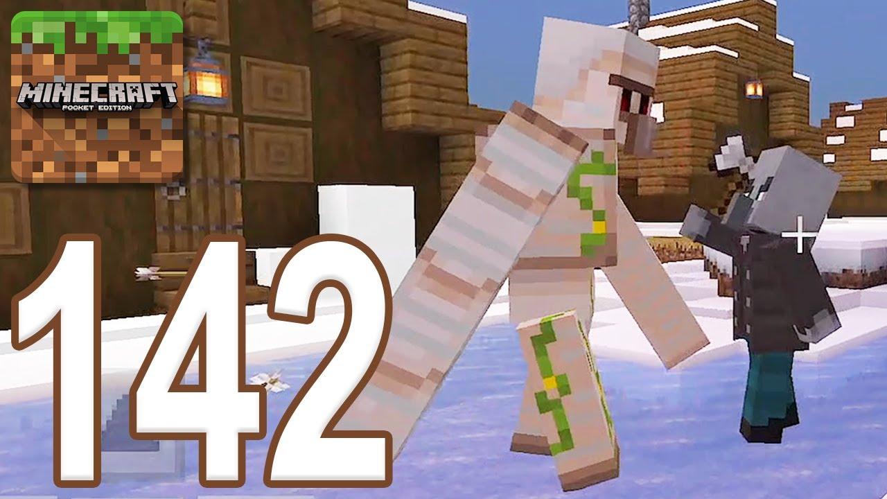 Minecraft: Pocket Edition - Gameplay Walkthrough Part 142 - Raid: Golem vs Pillager (iOS, Android)