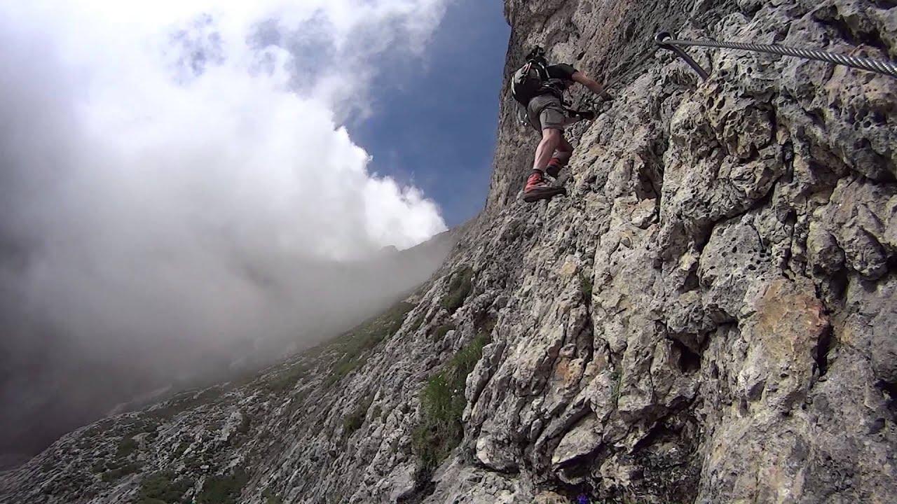 Klettersteig Pisciadu : Klettersteig pisciadù youtube