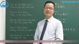 Học Tiếng Trung thật dễ dàng - Clip 49: Học Nghe - Nói PHẢN XẠ Tiếng Trung - P1