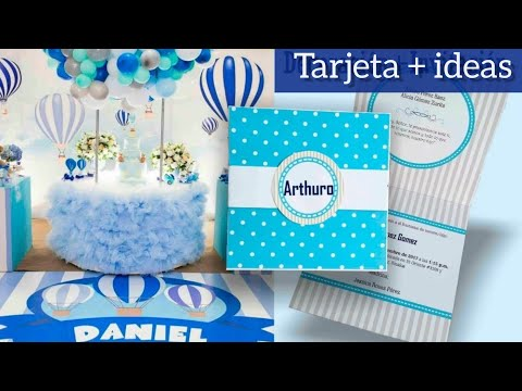 Diy Invitación Ideas Bautizo Baby Shower Niño Youtube