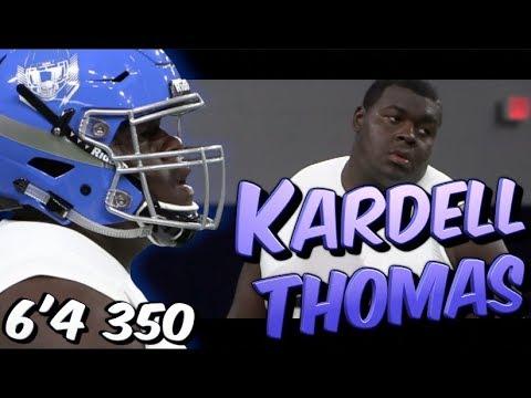 Kardell Thomas '19 | 🔥🔥 6'4 350 | Southern University Lab H S (Baton  Rouge, LA) 5 Star LSU Commit