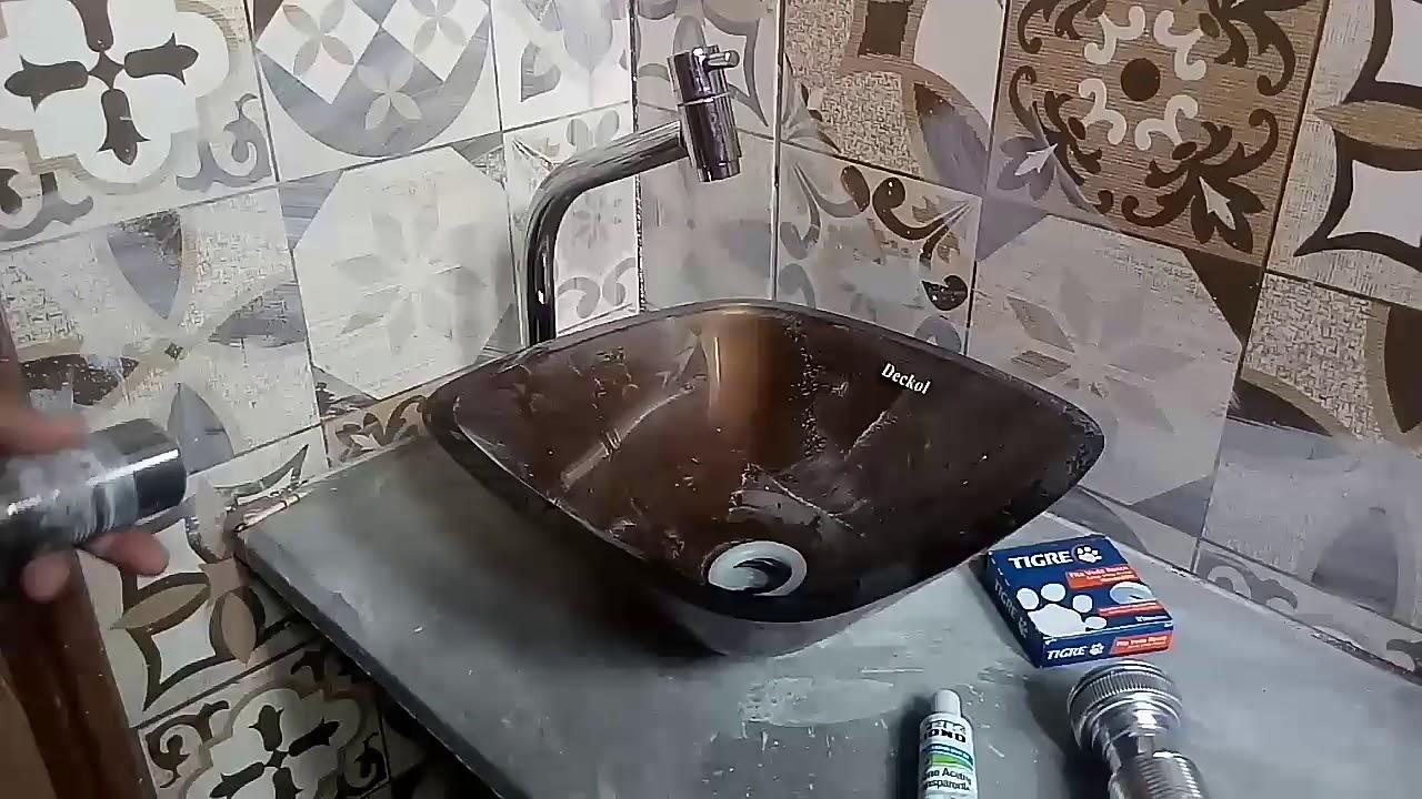 Instalação De Válvula Em Cuba Sem Vazamento Youtube