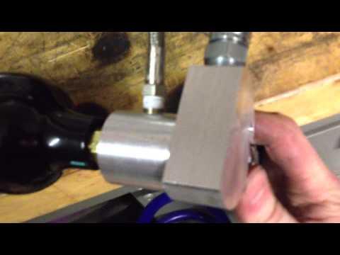 CO2 flipper setup testing