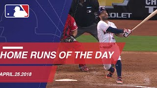 Check out all the home runs from 4/25/18