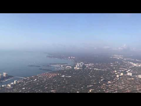 American Airlines (AAL1250) Landing in Miami from Grand Cayman