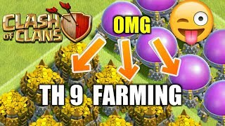 BIGGEST LOOT EVER / LETS FARMING IN TH 9 / TRY TO FULL STORAGE TODAY ? / CLASH OF CLANS !