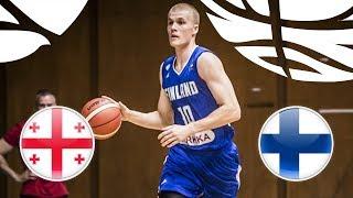 Georgia v Finland - Full Game - FIBA U20 European Championship Division B 2018