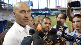 """Jeter, """"not happy"""" where the Marlins are"""